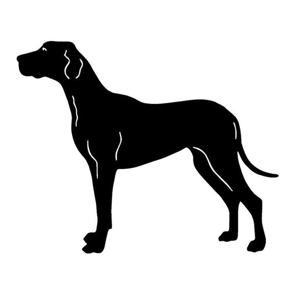 15.7*12.7CM Great Dane Dog Vinyl Decal Personality Car Stickers Car Styling Bumper Accessories Black/Silver S1-1175