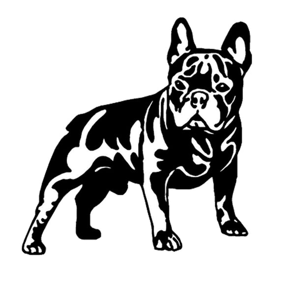 15.8*16.3CM French Bull Dog Vinyl Decal Cute Car Stickers Car Styling Motorcycle Accessories Black/Silver S1-1047