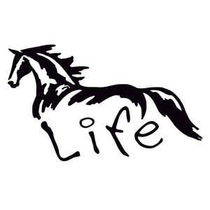 15CM*9CM Horse Life Vinyl Car Truck Sticker Decal Car Stickers Acessories Decoration C8-0077