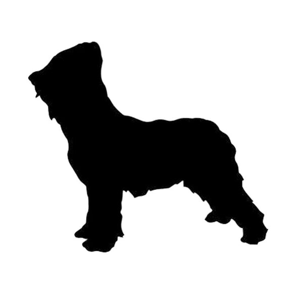 16*14.1CM Briard Dog Vinyl Decal Silhouette Car Stickers Car Styling Bumper Decoration Black/Silver S1-1479