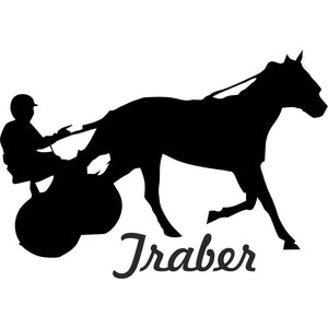 "16.1CM*11.3CM Aufkleber Traber Pferd ""Trotter Horse "" Car Stickers And Motorcycle Car Styling Accessories Black Sliver C8-0208"