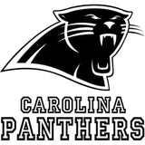 16.1CM*15.2CM Carolina Panthers Logo Nfl Decal Vinyl Car Sticker Car-Styling Sticker Decorative Accessories Black/Sliver C8-0986