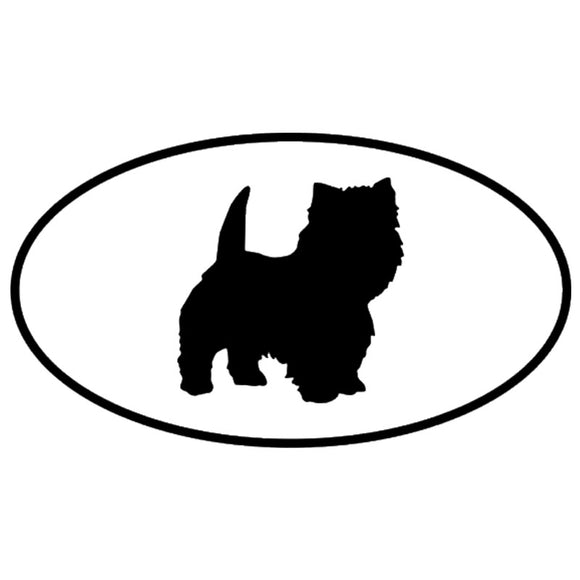 16.3*9.1CM West Highland White Terrier Dog Car Stickers Waterproof Vinyl Decal Car Styling Accessories Black/Silver S1-0681