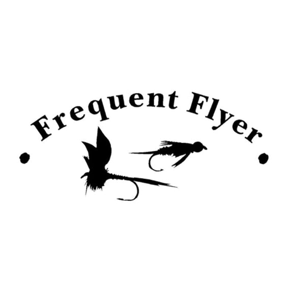 16.5CM*7.2CM Frequent Flyer Fly Fish Fishing Lure Fun Car Sticker Car Styling Vinyl Decals Decorative Black Sliver C8-0560