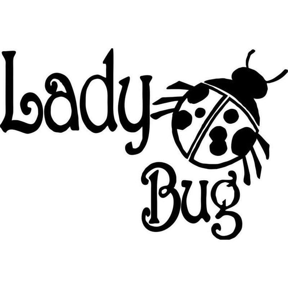 16CM*10.7CM Lady Girl Bug Animal Ladybug Car Vinyl Decal Sticker Car Stylings Decoration For Black Sliver C8-0395