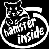 16CM*16CM Cute Hamster Inside Logo JDM Racing Vinyl Car Decal Sticker Drift Choose Black/Sliver C8-0180