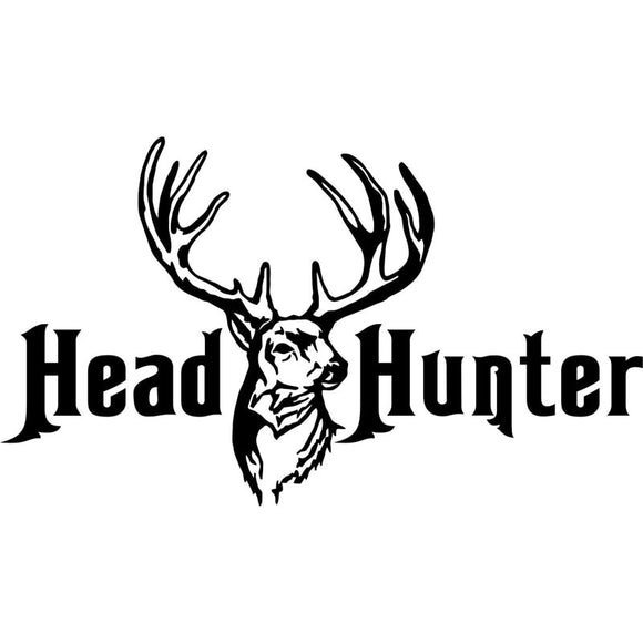 16CM*9.3CM Whitetail Deer Head Hunter Hunting Gun Bow Car Stickers and Decals Cartoon Auto Sticker for Car Styling C8-0394