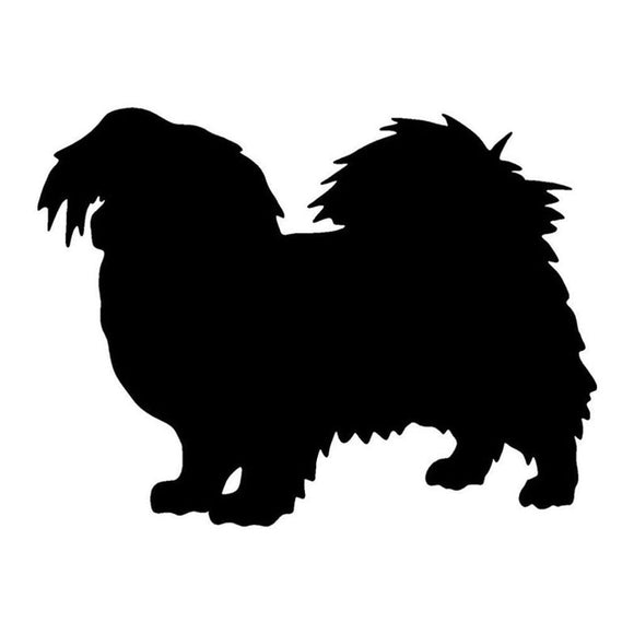 17*12.7CM Tibetan Spaniel Dog Car Stickers Silhouette Vinyl Decal Car Styling Truck Accessories Black/Silver S1-0744