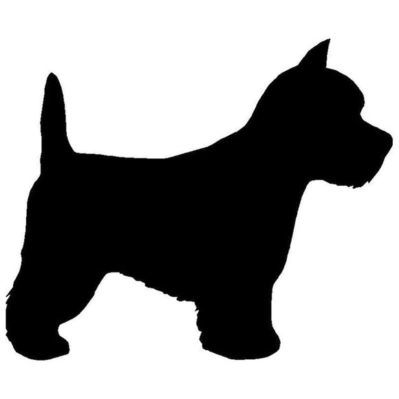 17.8*14.8CM Westie Dog Vinyl Decal Silhouette Car Stickers Car Styling Motorcycle Accessories Black/Silver S1-1281
