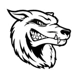 17.8*16.7CM Cartoon Scary Wolf Head Car Stickers Vinyl Reflective Car Styling Bumper Decal Black/Silver S1-2290