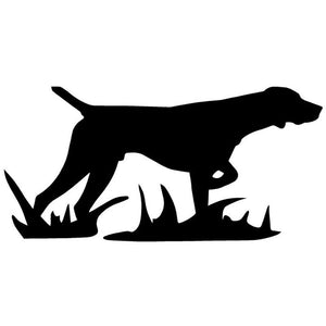 17.8*8.7CM Hunting Dog Car Stickers Stylish Vivid Vinyl Decal Car Styling Bumper Accessories Black/Silver S1-0875