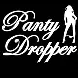 17.8CM*13.8CM Panty Dropper Adhesive Funny Car Stickers And Decals Motorcycle Car Styling Accessories Black Sliver C8-0820