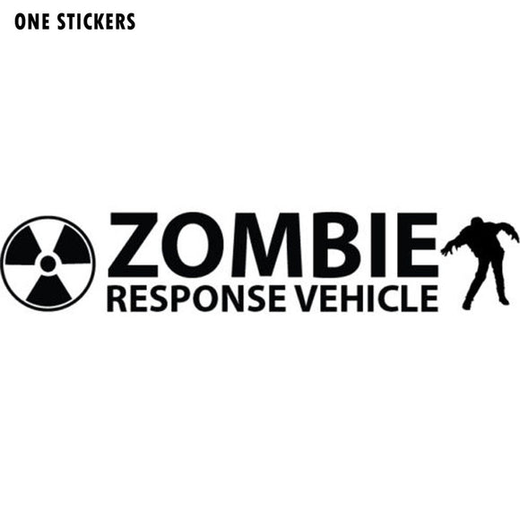18CMX3.5CM ZOMBIE RESPONSE VEHICLE Vinyl Car-styling Motorcycle Decals Car Stickers Black/Silver S8-1178