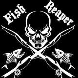 17CM*17CM Fish Reaper Skull Fishing Rod Car Boat Truck Window Vinyl Decal Graphic Sticker Stylings Black Sliver C8-0731