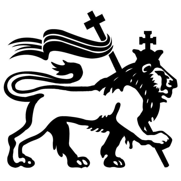 18.5*16.8CM Rasta Lion Of Judah Classic Car Styling Decals Vinyl Car Body Decal Accessories Black/Silver S1-2605