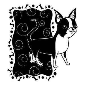 18.6*20.3CM Chihuahua Dog Stickers Lovely Waterproof Vinyl Decal Car Styling Truck Decoration Black/Silver S1-0640