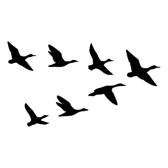 20.3*11.4CM A Group Of Wild Duck Funny Car Styling Decal Hunting Lover Car Sticker Black/Silver S1-2391