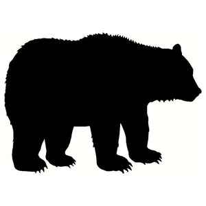 20.3*14.4CM Grizzly Bear Interesting Car Sticker Bumper Decal Reflective Vinyl Car Styling Black/Silver S1-2687