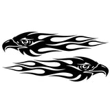 20*4.7CM Pair Eagle Flames Car Sticker Personalized Motorcycle Waterproof Stickers Car Styling Accessories C2-0418