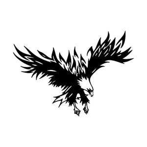 22*15.5CM Cool Eagle Bird Big Wings Design Car Styling Vinyl Car Stickers And Decal Black/Silver S1-2442