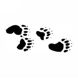 22.8*9.3CM Bear Tracks Paw Print Car Sticker Motorcycle Decals Waterproof Car Styling Car Accessories C2-0466