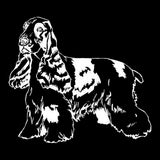 22.9*20.2CM King Charles Spaniel Dog Vinyl Decal Art Creative Car Stickers Bumper Motorcycle Car Styling Black/Silver S1-0498