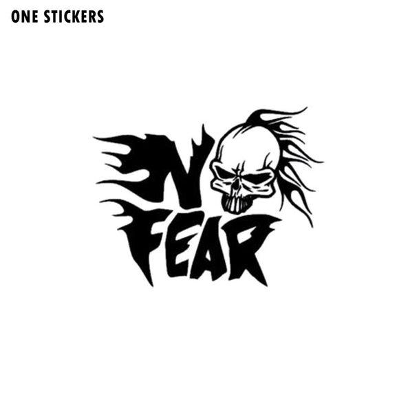 20X15.6CM SKUII IN NO FEAR Personality Car Sticker Black/Silver Vinyl Decal Car-styling S8-0683