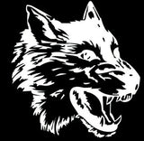28*28CM WOLF's Head Fashion Personality Modified Car Stickers WOLF Car Stickers Reflective Decals Black Silver CT-745