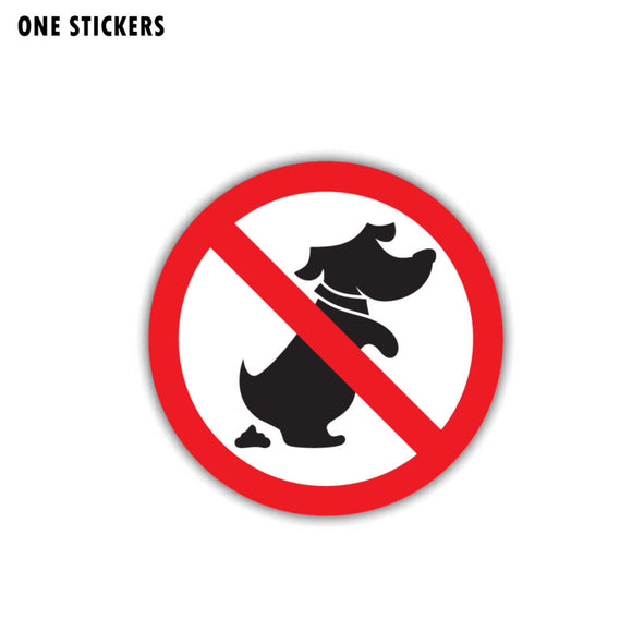 11CM*11CM  No Dog Funny Ban Stop Car Sticker Warning PVC Decal 12-1443
