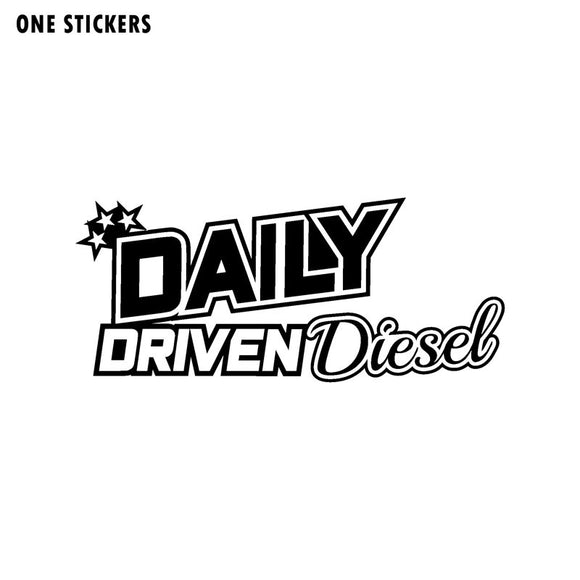 16CM*7CM Fashion DAILY DRIVEN DIESEL Decal Vinyl Car-styling Car Sticker Black Silver C11-0650