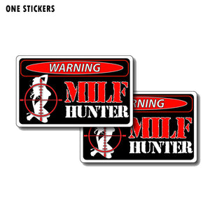 12CM*7CM Sexy Girl Milf Hunter Funny PVC Decal Car Sticker 12-0191