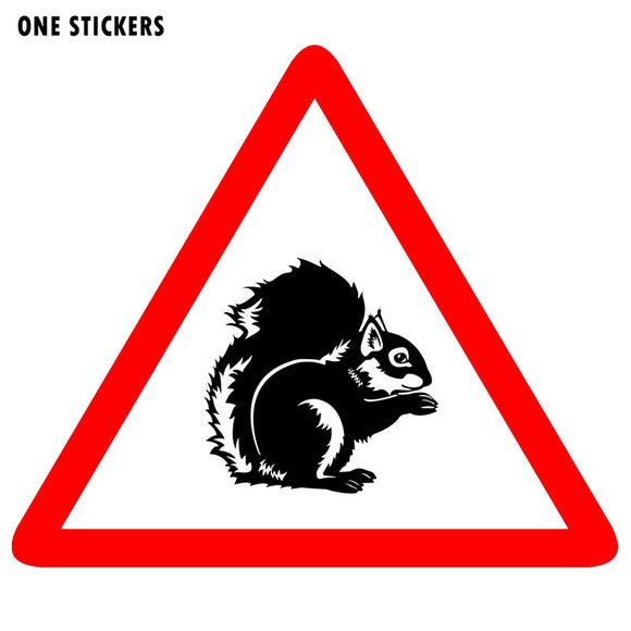 11CM*9.3CM Animal Warning  Squirrel Animal Car Sticker PVC Decal 12-1569