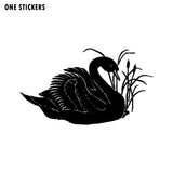18CM*10.4CM Fun ANIMAL SWAN Large Vinyl Car Window Sticker Black/Silver Decal Graphical C15-1067