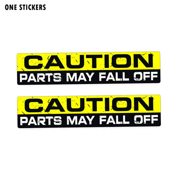 15CM*3CM WARNING CAUTION PARTS FALL OFF Personality Funny PVC Decal Car Sticker 12-0120