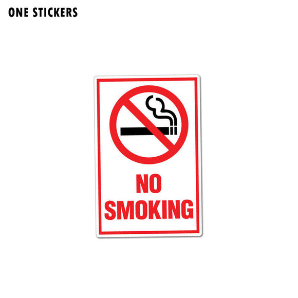 8.2CM*12.7CM Creative Funny Warning Car Sticker No Smoking Decal PVC 12-0998