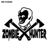 12.7CMX9.7CM Cartoon Funny Abe Lincoln ZOMBIE Vinyl Decals Car Sticker Accessories Black/Silver S8-1164
