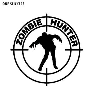 15*15CM Interesting ZOMBIE Hunter Motorcycle Car Sticker Decal Black/Silver Vinyl S8-1235