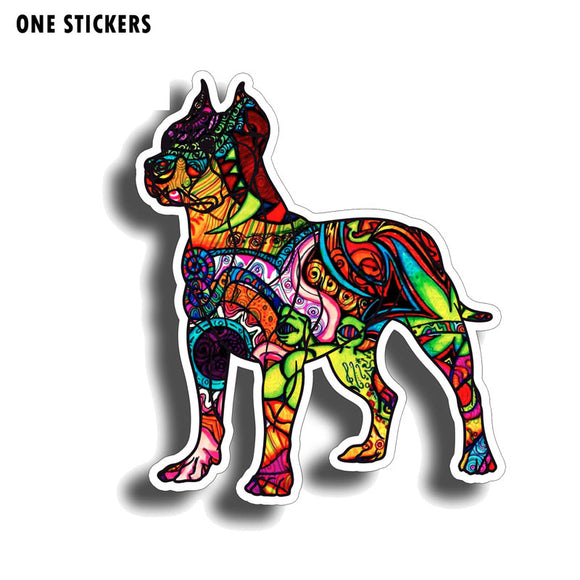 12.2CM*14.5CM Animal Graffiti Pitbull Sticker Funny PVC Decal Car Sticker 12-0612