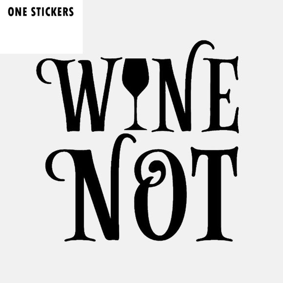 14CM*14CM Fashion Wine Not Vinyl Decal Car Sticker Black Silver C11-2084