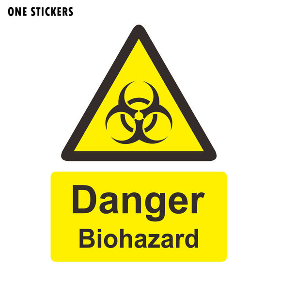 11.4CM*15.5CM Danger Biohazard Zombie Car Sticker Funny Decal PVC 12-0781