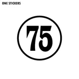 15CM*15CM Personality Number 75 Vinyl High-quality Car Sticker Decoration Decal Black/Silver C11-0790