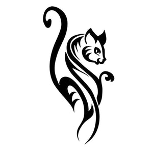 7.8CM*15CM Lovely Cat Animal Fashion Personality Funny Personality Car Sticker Vinyl Decal Black/Silver S1-0024