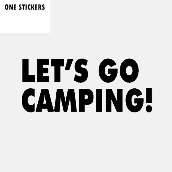 17CM*7CM Funny Let's Go Camping Vinyl Car Window Sticker Decal Black Silver Graphical C11-1837