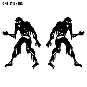 8X10.7CM Personalized ZOMBIE Monster (Left & Right) Silhouette Vinyl Decal Car Sticker Black/Silver Car-styling S8-1250