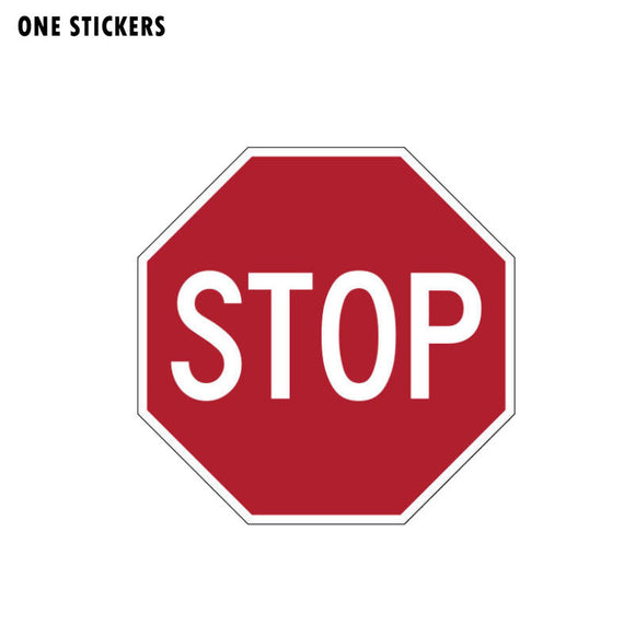11.2CM*11.2CM Personality Warning STOP Road PVC Decal Car Sticker 12-1164