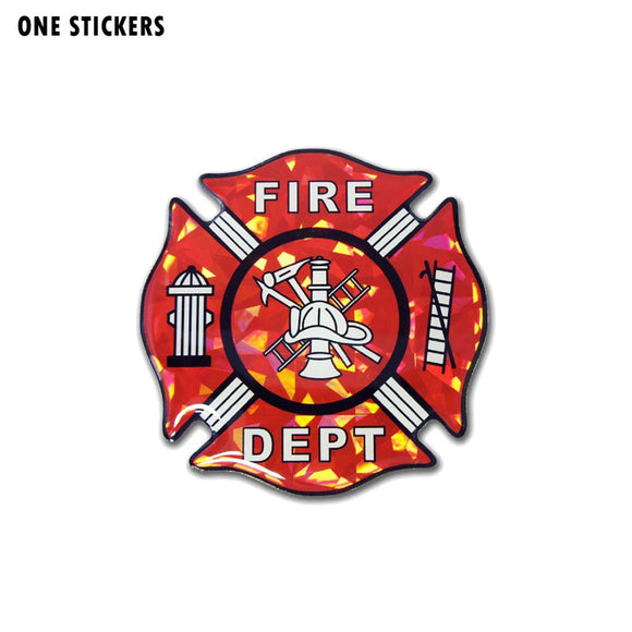 11CM*11CM Firefighter Dept Car Sticker PVC Reflective Decal 12-0664