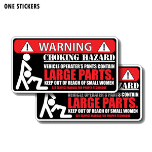 14.7CM*7.6CM Funny Choking Hazard LARGE PARTS Personality PVC Decal Car Sticker 12-0177