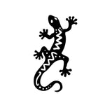 8.6*15.2CM Fashion Gecko Lizard Vinyl Car Tail Styling Decal Vivid Animal Car Sticker Black/Silver S1-2825
