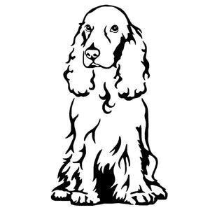 8.7*15CM Cocker Spaniel Dog Car Stickers Creative Vinyl Decal Car Styling Truck Decoration Black/Silver S1-0941