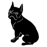 8.9*12.7CM Boston Terrier Pet Dog Car Stickers Creative Vinyl Decal Car Styling Bumper Accessories Black/Silver S1-0868